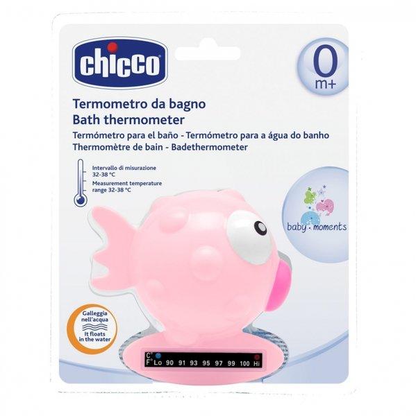 "Chicco Термометър за вода ""рибка""  розова 0601"